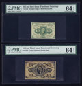 Fractional Currency:First Issue, 10¢ First and 10¢ Third Issues.. ... (Total: 2 notes)