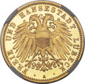 German States:Lubeck, German States: Lubeck. Free City gold Proof 10 Mark 1905-A,...