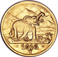 German East Africa: , German East Africa: German Colonial gold 15 Rupien 1916T,...