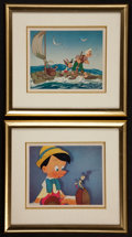 "Movie Posters:Animated, Pinocchio (Walt Disney Productions, 1980s). Framed Fine Art Prints(2) (8"" X 10"" framed to 15"" X 17""). Animation.. ... (Total: 2Items)"
