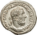 Ancients:Roman Imperial, Ancients: Macrinus (AD 217-218). AR denarius (3.11 gm). ...