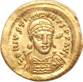 Ancients:Byzantine, Ancients: Justin I (AD 518-527). AV solidus (4.41 gm). ...