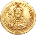 Ancients:Byzantine, Ancients: Constantine VIII (1025-1028). AV histamenon nomisma (4.42gm). ...