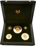 Hungary: , Hungary: People's Republic five-piece gold set 1968,... (Total: 5coins)