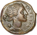 Ancients:Greek, Ancients: Syracuse. Agathokles and Hiketas II. Lot of two Æ. ...(Total: 2 coins)