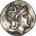 Ancients:Greek, Ancients: CALABRIA, Taras. Ca. 302-280 BC. AR drachm (3.27 gm). ...