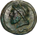 Ancients:Roman Republic, Ancients: Anonymous. Ca. 225-217 BC. Æ aes grave semis (158.63 gm)....