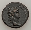 Ancients:Roman Provincial , Ancients: Roman Provincial. Nero (AD 54-68), with Poppaea (died AD65). Æ 25 mm (11.86 gm) of the Koinon of Galatia. ...