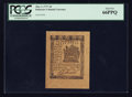 Colonial Notes:Delaware, Delaware May 1, 1777 3d PCGS Gem New 66PPQ.. ...