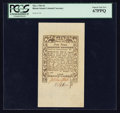 Colonial Notes:Rhode Island, Rhode Island May 1786 9d PCGS Superb Gem New 67PPQ.. ...