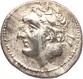 Ancients:Greek, Ancients: Carthage. Time of Hannibal Barca. Ca. 221-201 BC. AR 1/2shekel (3.38 gm). ...