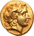 Ancients:Greek, Ancients: THRACIAN KINGDOM. Lysimachos (306-281 BC). AV stater (8.75 gm). ...