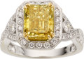 Estate Jewelry:Rings, Colored Diamond, Diamond, Gold Ring. ...