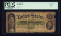 Large Size:Demand Notes, Fr. 1 $5 1861 Demand Note PCGS About Good 03.. ...