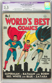 World's Best Comics #1 (DC, 1941) CGC Apparent VG- 3.5 Slight (A) Cream to off-white pages