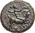 Ancients:Greek, Ancients: Himera. Ca. 420-407 BC. AE hemilitron (4.79 gm). ...