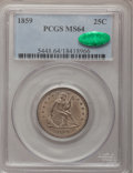 Seated Quarters, 1859 25C MS64 PCGS. CAC....