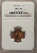 Proof Indian Cents, 1886 1C Type One PR66 Red and Brown NGC....