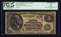 National Bank Notes:District of Columbia, Washington, DC - $5 1882 Date Back Fr. 533 The Second NB Ch. # (E)2038. ...
