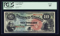 Large Size:Legal Tender Notes, Fr. 96 $10 1869 Legal Tender PCGS Gem New 65.. ...