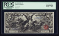 Large Size:Silver Certificates, Fr. 268 $5 1896 Silver Certificate PCGS Very Choice New 64PPQ.. ...