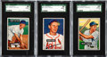 Baseball Cards:Lots, 1951 Bowman Baseball SGC 88 NM/MT 8 Graded Trio (3). ...