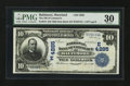 National Bank Notes:Maryland, Baltimore, MD - $10 1902 Date Back Fr. 619 The NB of Commerce Ch. #(E) 4285. ...