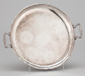 Silver Holloware, American:Trays, A PERUVIAN TWO-HANDLED ROUND TRAY . Maker unidentified, Peru, circa 1950. Marks: STERLING, 925, PERU. 2-1/8 x 15-3/8 x 1...