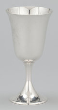 Silver Holloware, American:Water Goblet, A SET OF EIGHT AMERICAN SILVER GOBLETS . Gorham Manufacturing Co.,Providence, Rhode Island, circa 1950. Marks: Gorham (...(Total: 8 Items)