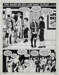 Jaime Hernandez Love and Rockets #24 page 1 Original Art (Fantagraphics, 1987)