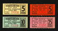 Military Payment Certificates:Series 701, Japan and Okinawa Chits.. ... (Total: 4 items)