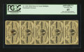 Fractional Currency:Third Issue, Fr. 1226 3¢ Third Issue Vertical Strip of Five PCGS Apparent Extremely Fine 45.. ...