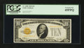 Small Size:Gold Certificates, Fr. 2400 $10 1928 Gold Certificate PCGS Extremely Fine 45PPQ.. ...
