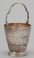 Silver Holloware, American:Baskets, A SILVER BASKET WITH SWING HANDLE . Maker unknown, probably South American, circa 1950. Marks: 925. 8-7/8 inches high (2...