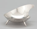 Silver Holloware, Mexican:Holloware, A MEXICAN SILVER FOOTED TEAR DROP-FORM DISH . Maker unidentified, Mexico, circa 1950. Marks: M.R.M. HECHO EN MEXICO 925, S...