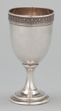 Silver Holloware, American:Water Goblet, AN AMERICAN SILVER GOBLET. Gorham Manufacturing Co., Providence,Rhode Island, circa 1900. Marks: (lion-anchor-G), STERLIN...