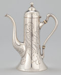 Silver Holloware, American:Coffee Pots, AN AMERICAN SILVER ACID ETCHED TURKISH COFFEE POT . InternationalSilver Co., Meriden, Connecticut, circa 1900. Marks: (S in...