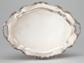 Silver & Vertu:Hollowware, AN AMERICAN SILVER OVAL TWO-HANDLED TRAY WITH SHAPED RIM . Reed & Barton, Taunton, Massachusetts, circa 1964. Marks: REED ...