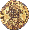 Ancients:Byzantine, Ancients: Justinian II, first reign (AD 685-695). AV solidus (4.32gm). ...