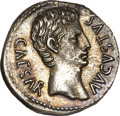 Ancients:Roman Imperial, Ancients: Augustus (27 BC-AD 14). AR denarius (3.56 gm). ...