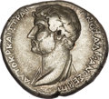 Ancients:Roman Provincial , Ancients: Roman Provincial. Hadrian (AD 117-138), with Sabina (diedAD 136). AR tridrachm (9.81 gm) of Aegeae, Cilicia. ...