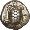 Ancients:Greek, Ancients: Aegina. Ca. 456/45-431 BC. AR stater (12.32 gm). ...