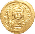Ancients:Byzantine, Ancients: Justin II (AD 565-578). AV solidus (21mm, 4.39 gm,6h). ...