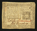 Colonial Notes:Pennsylvania, Pennsylvania October 25, 1775 2s Extremely Fine.. ...