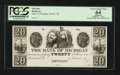 Obsoletes By State:Michigan, Detroit, MI- The Bank of Michigan $20 G32 Lee DET-7-38 Proof. ...