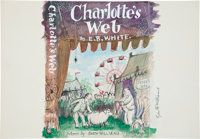 Garth Williams. Original painting for an unused dust jacket design, Charlotte's Web