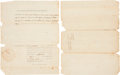 """Autographs:U.S. Presidents, James Madison Document Signed as secretary of state. One page, 8"""" x 10"""", Washington, March 15, 1805, certifying that """"the ..."""