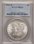 Morgan Dollars, 1921-D $1 MS63+ PCGS. PCGS Population (3298/5695). NGC Census: (2663/6747). Mintage: 20,345,000. Numismedia Wsl. Price for ...