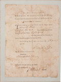 "Autographs:U.S. Presidents, George Washington Continental Army Discharge Signed""G:Washington"" and countersigned by Jonathan Trumbull Jr. assecreta..."