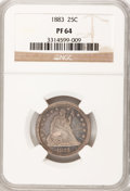 Proof Seated Quarters, 1883 25C PR64 NGC....